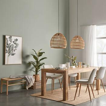 Chaise de salle à manger en tissu et en métal