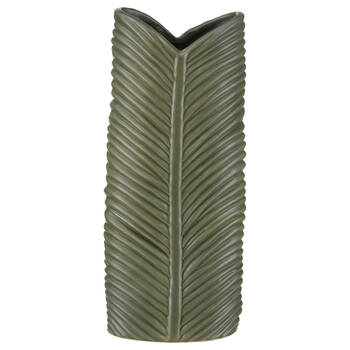 Green Porcelain Leaf Vase