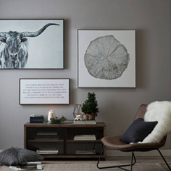 Bull Sketch Gel Embellished Framed Art