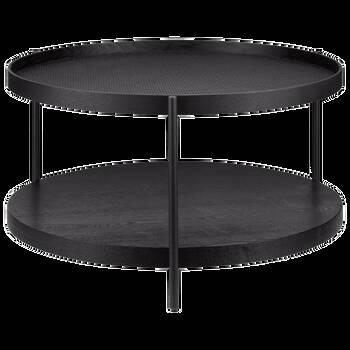 Table basse en rotin et en métal