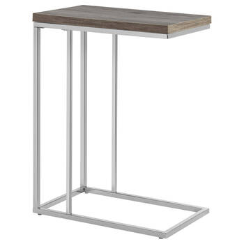 Veneer & Metal Side Table