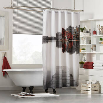 Fall Dock Shower Curtain