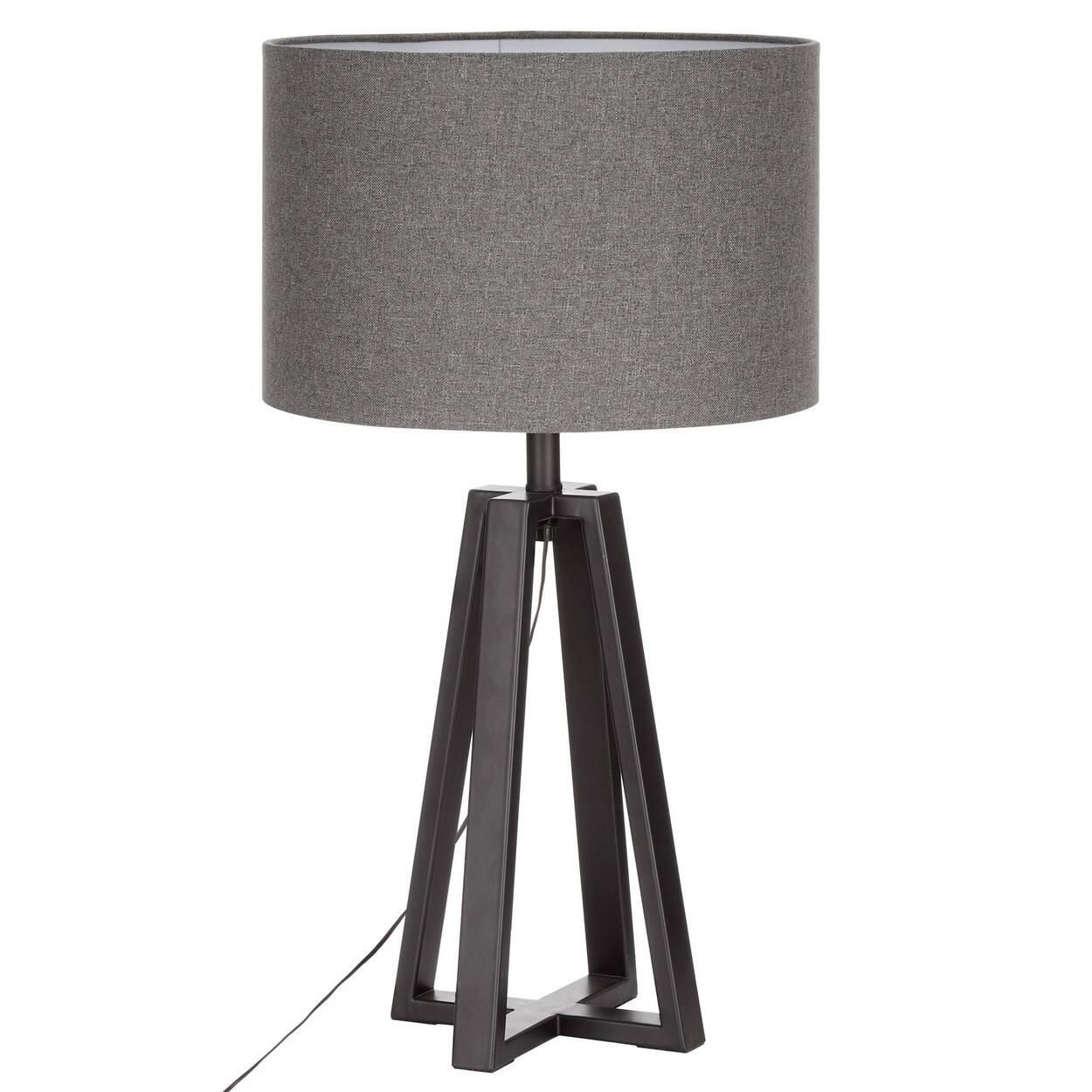 lampe de table g om trique en m tal. Black Bedroom Furniture Sets. Home Design Ideas