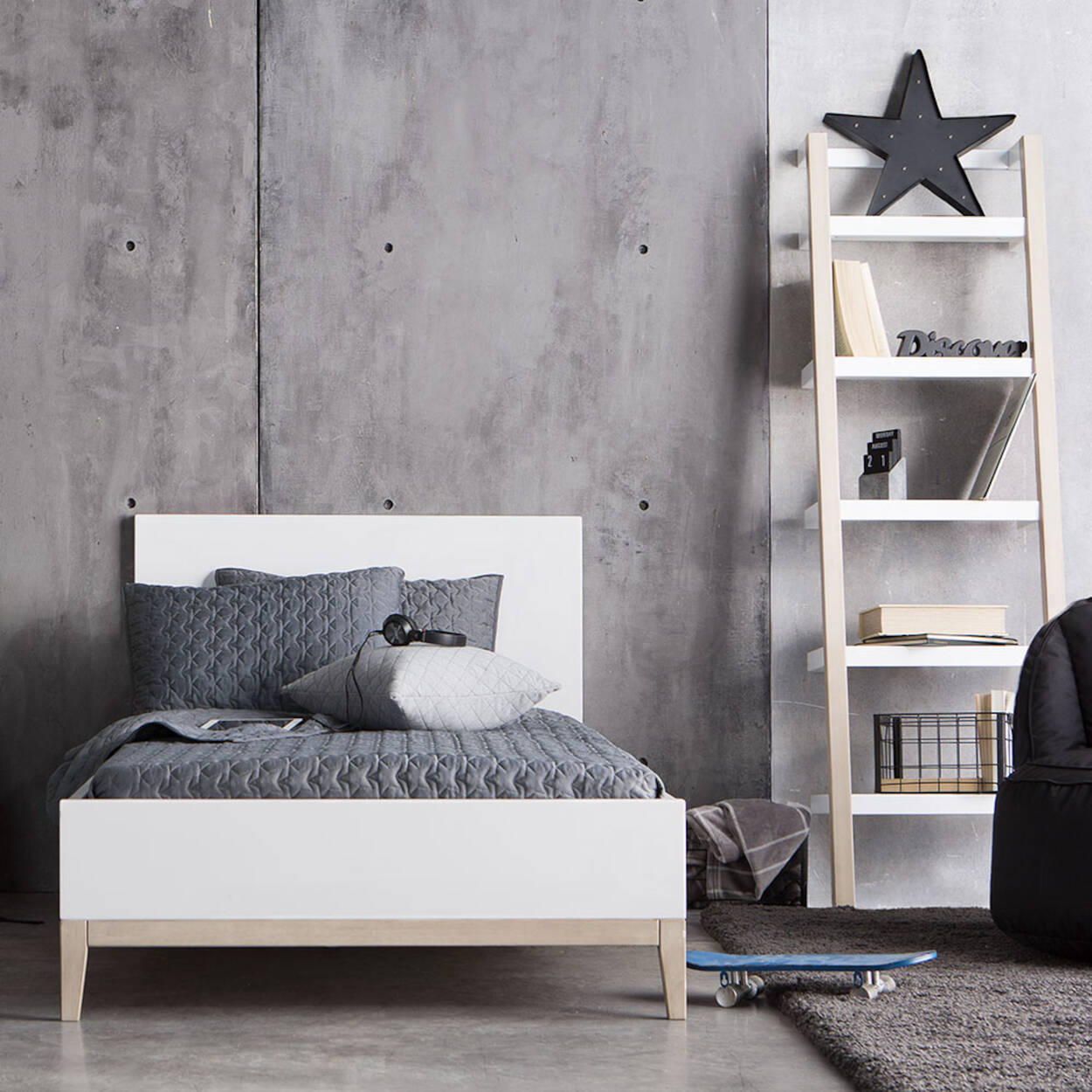 lit jumeau en bois. Black Bedroom Furniture Sets. Home Design Ideas