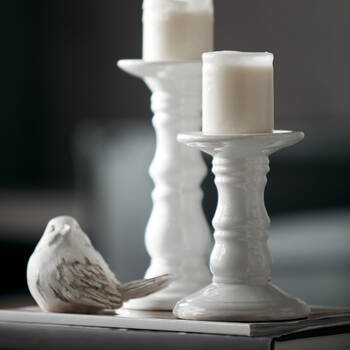 Ceramic Pillar Candle Holder