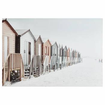 Beach Houses Printed Canvas