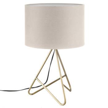 Lampe de table avec base en métal doré