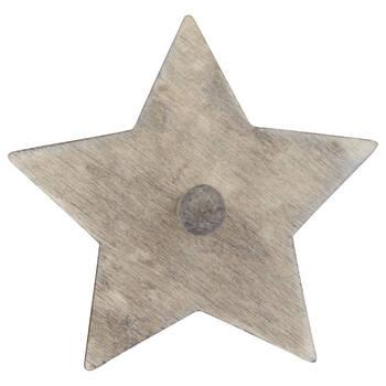 Crochet étoile en bois
