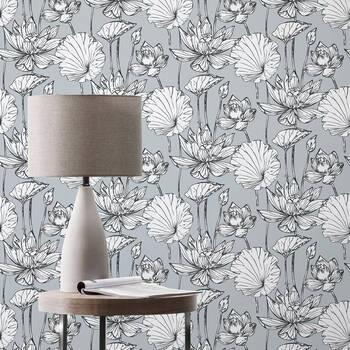 White Flowers Peel-&-Stick Wallpaper