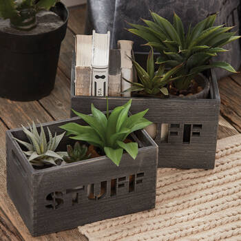 Small Stuff Wooden Crate