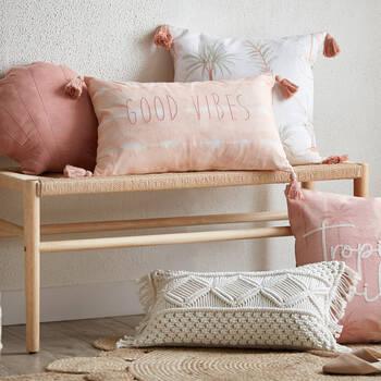 "Kellee Seashell Decorative Pillow 16"" X 15"""