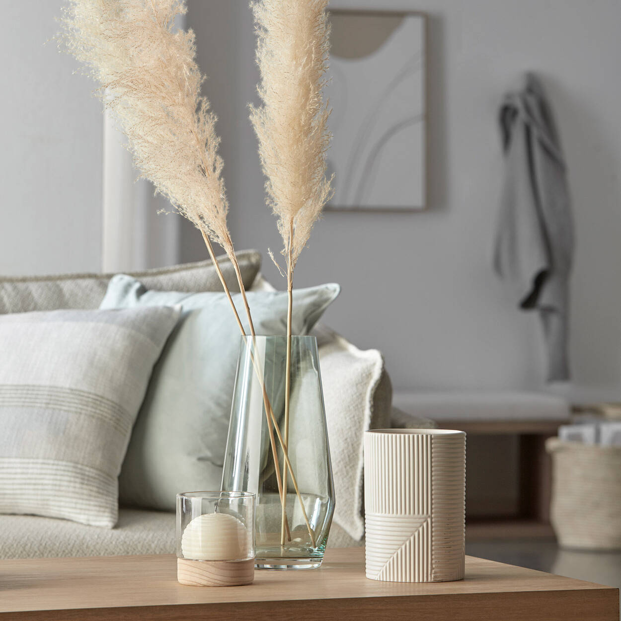 Line Textured Candle Holder