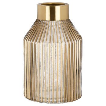 Striped Glass Table Vase