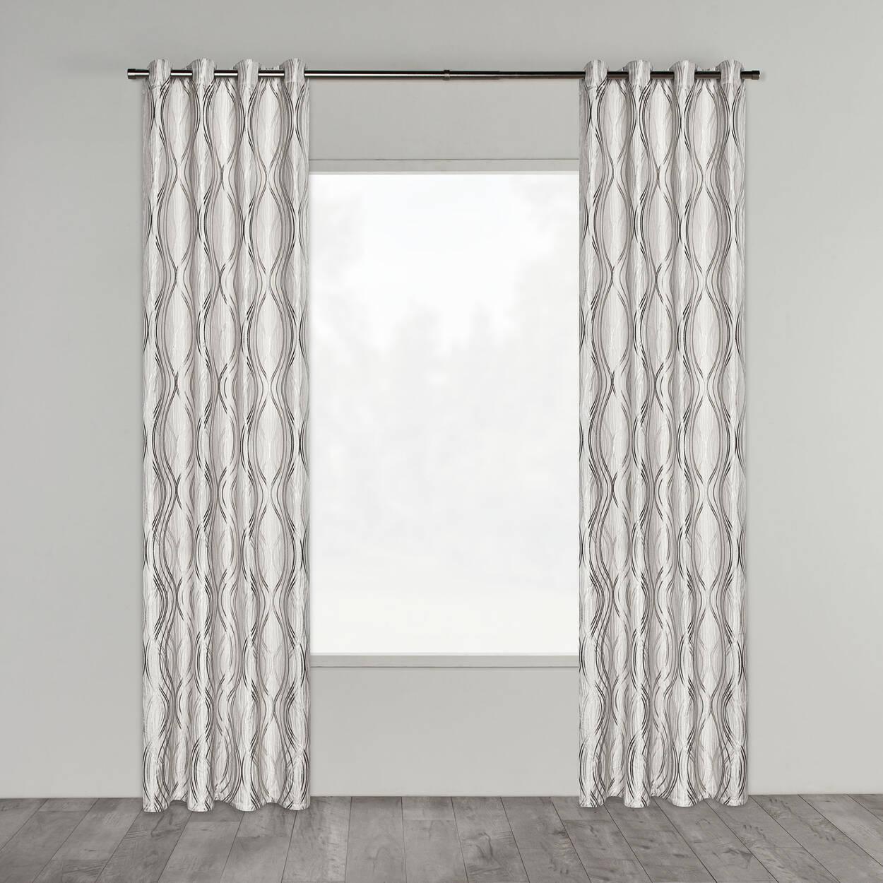 Prato Jacquard Lined Panel Curtain