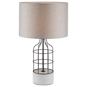 Cement and Metal Table Lamp
