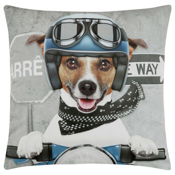 "Scooter Dog Decorative Pillow 18"" X 18"""