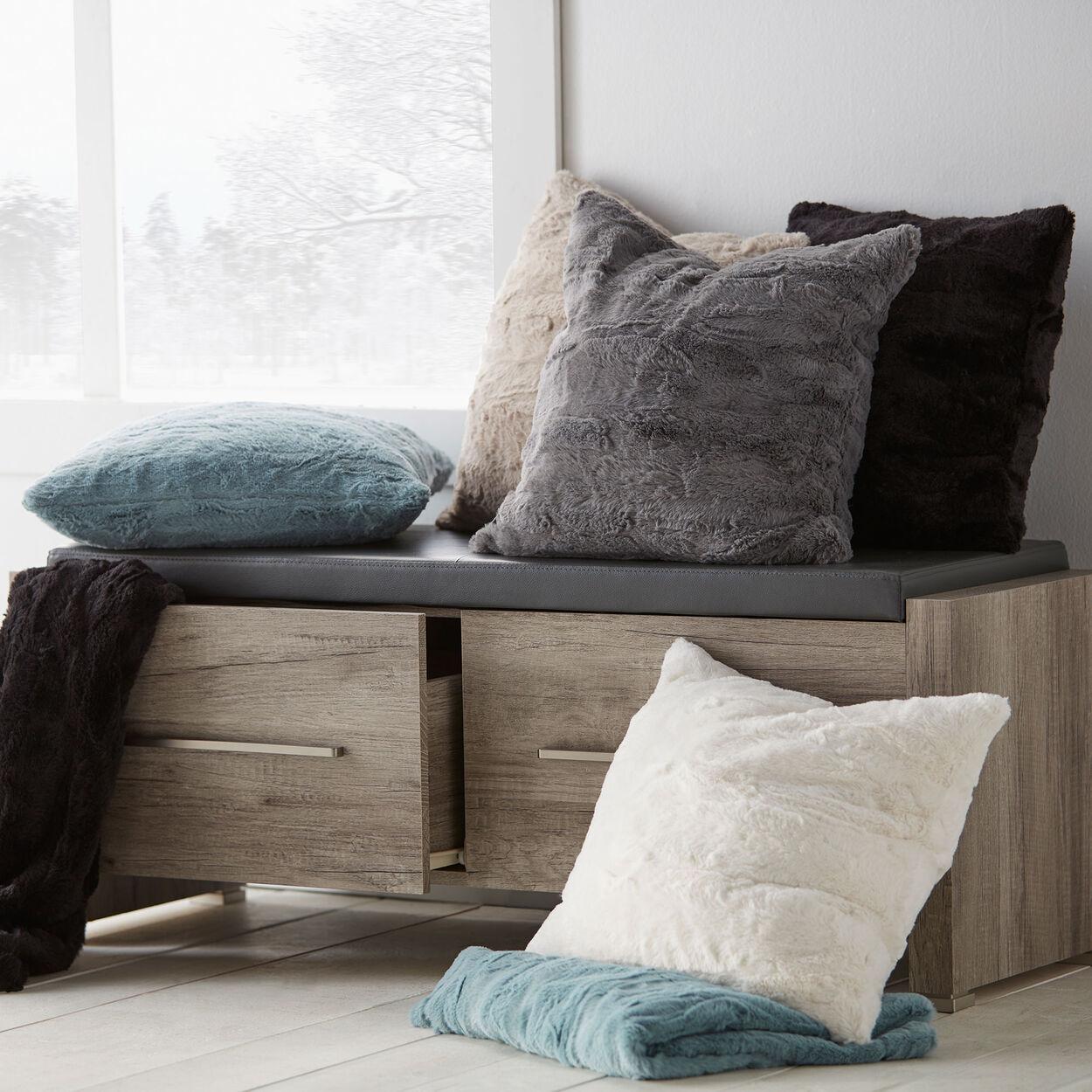 """Kilis Faux Fur Decorative Pillow 18"""" X 18"""""""