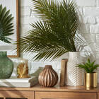 Vase bourgeon en bois brun travaillé