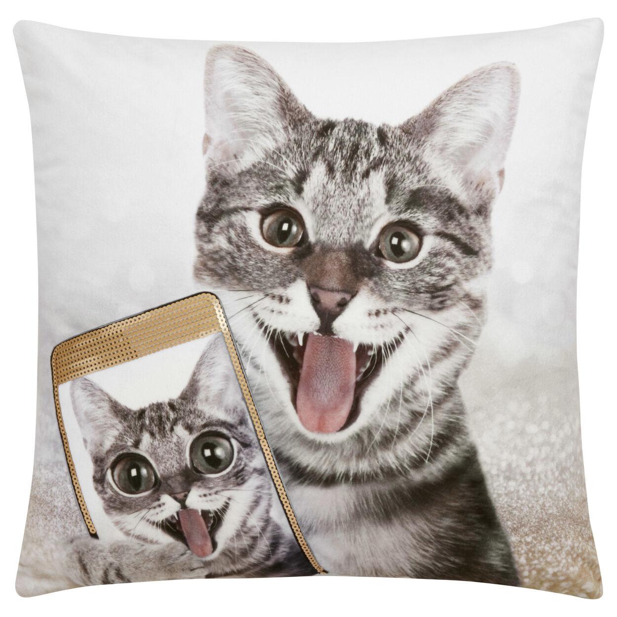 "Melia Sequined Decorative Pillow 18"" X 18"""