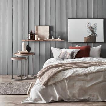 Porte-chandelles en métal et en bois