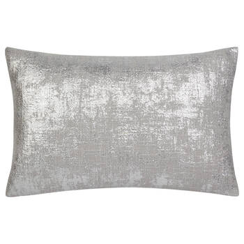 "Silver Foil Decorative Lumbar Pillow 13"" x 20"""