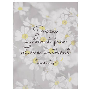 Dream without Fear Printed Framed Art