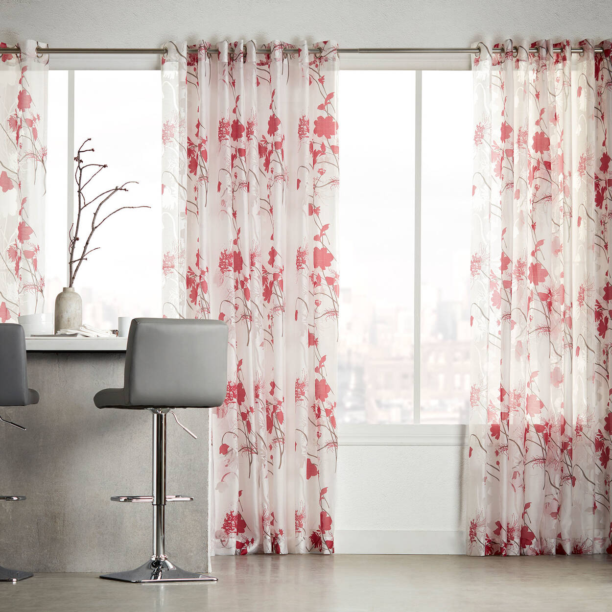 Rideau semi-transparent Gardenia