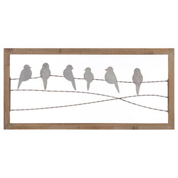 Metal Perched Birds Wall Art