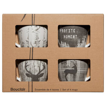 Set of 4 Profite Du Moment Mugs