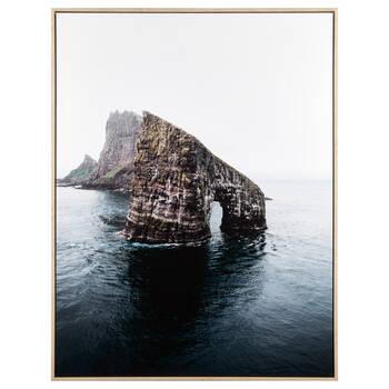 Rocks in the Ocean Framed Canvas