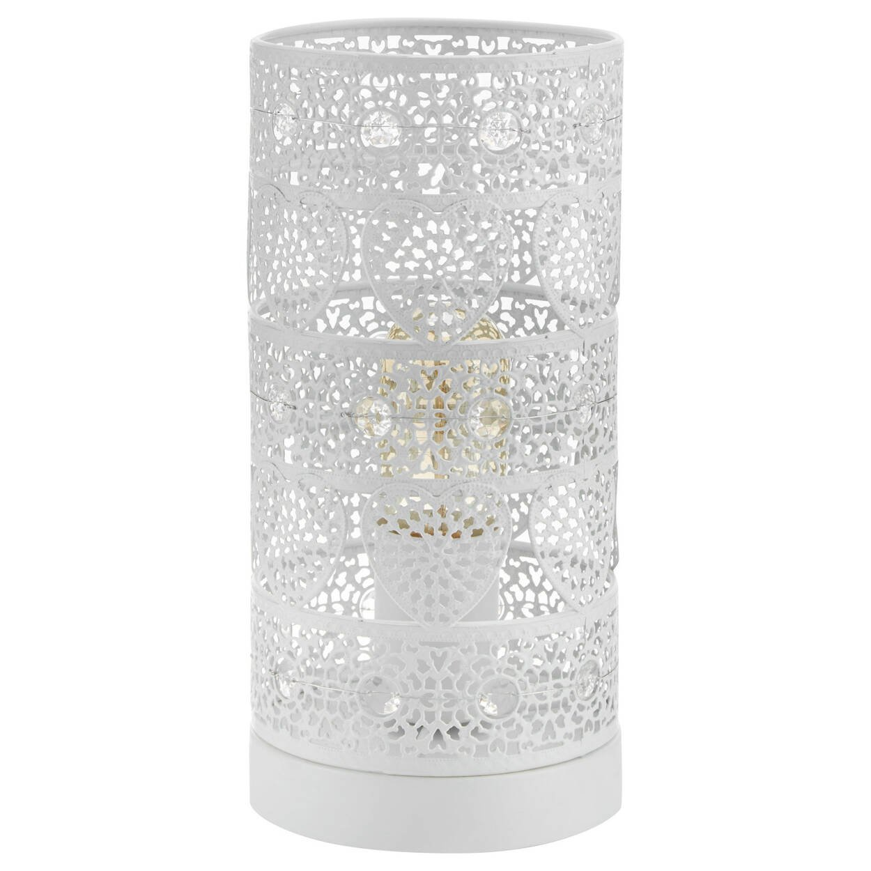 Lace Cut-Out Table Lamp