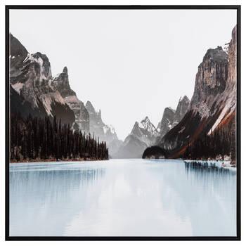 Blue Lake Framed Canvas