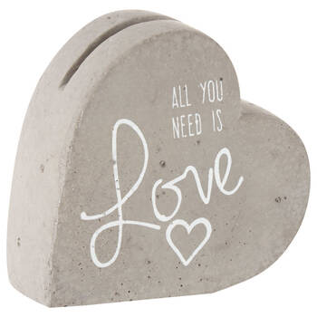 Cement Heart Card Holder