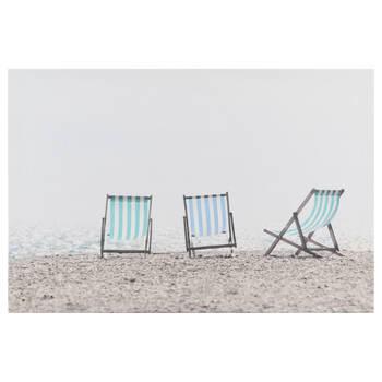 Beach Chairs Printed Canvas