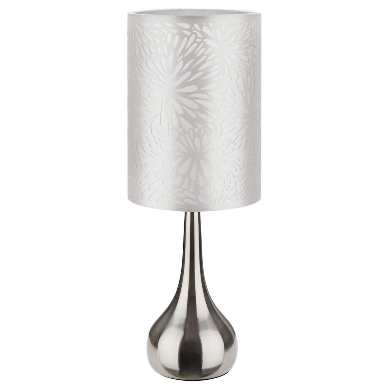 Table Lamp with Floral Cut-Out Shade