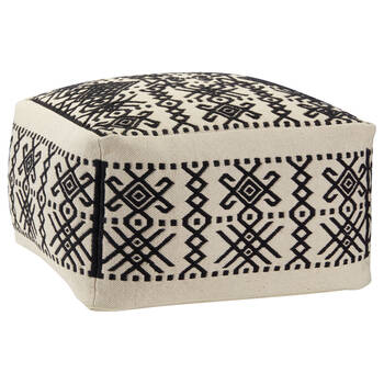 Patterned Cotton Ottoman