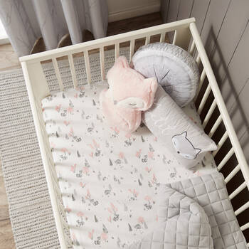 Fox Fitted Crib Sheet