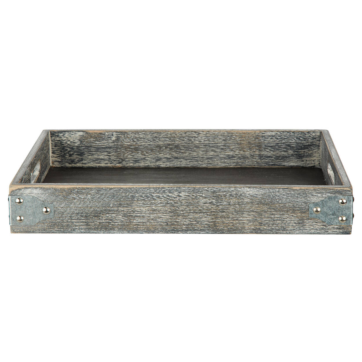 Wood and Galvanized Metal Tray