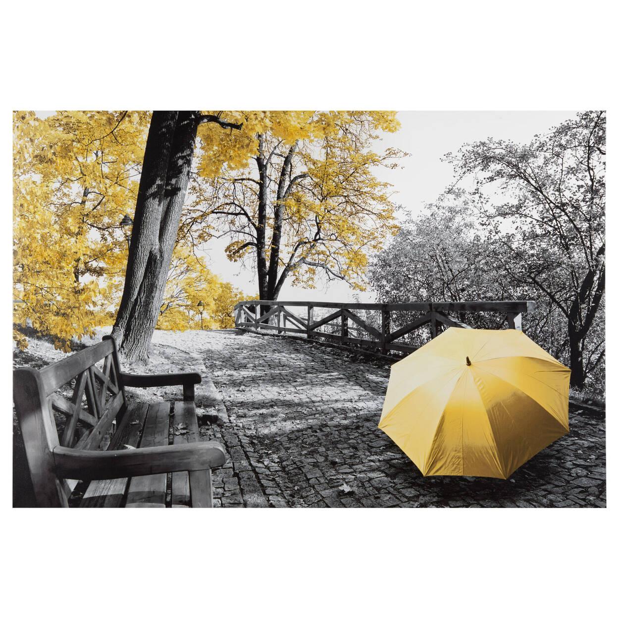 Tableau imprimé Sentier d'automne avec embellissements au gel