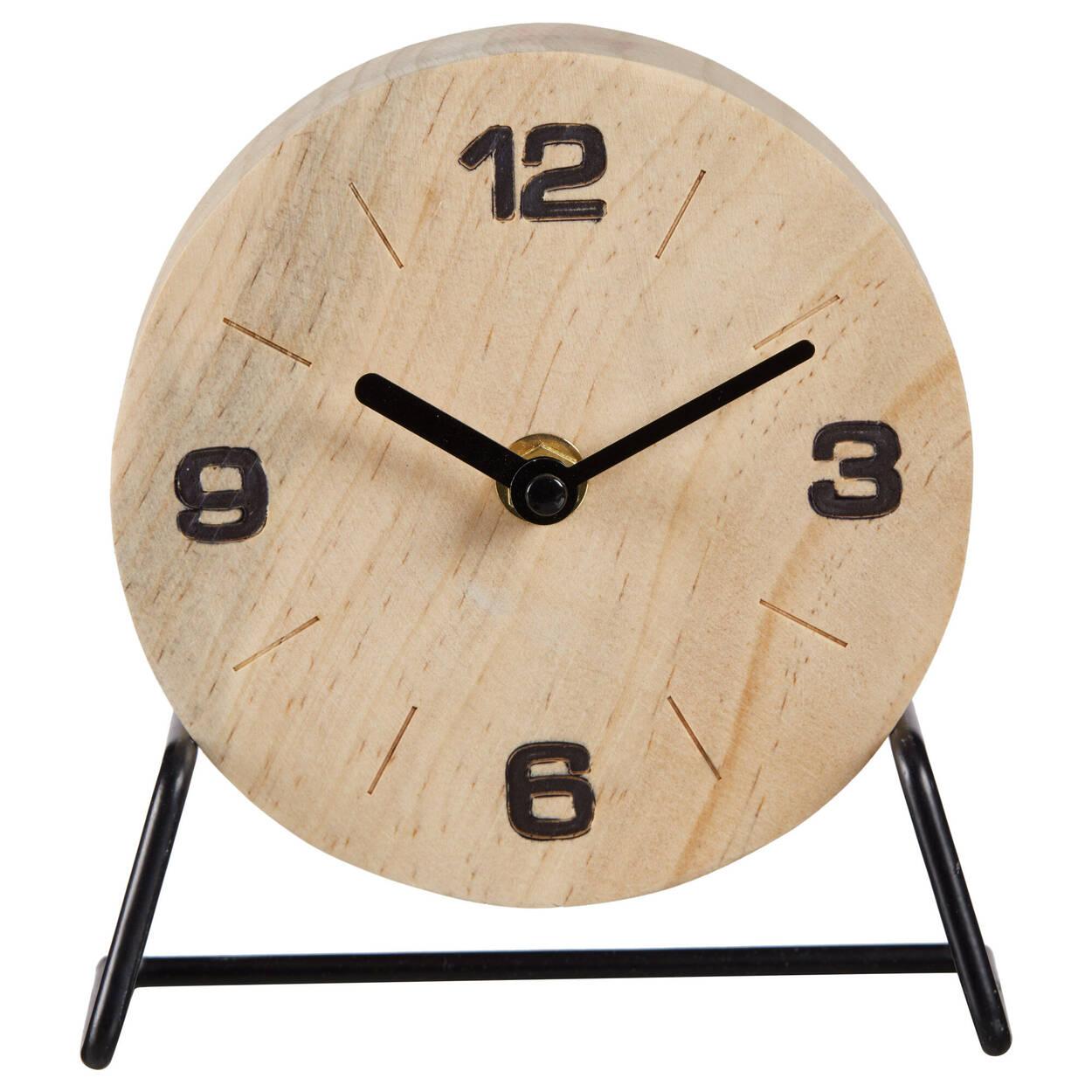 Horloge de table en bois