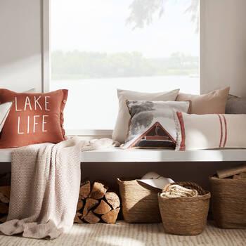 "Lake Life Decorative Pillow 20"" x 20"""