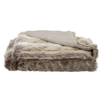"Deer Faux Fur Throw 50"" X 60"""