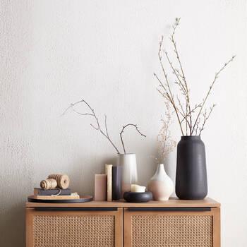 Black Textured Vase