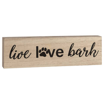 Decorative Block Live Love Bark