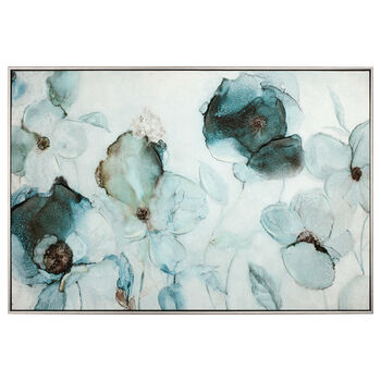 Gel Embellished Floral Printed Canvas