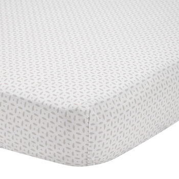 Dotted Fitted Crib Sheet