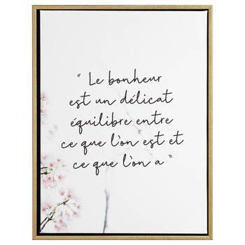 Bonheur Printed Framed Art
