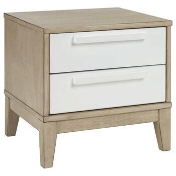 Table de chevet en bois avec tiroirs