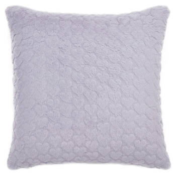 "Mini Hearts Faux Fur Decorative Pillow 17"" X 17"""
