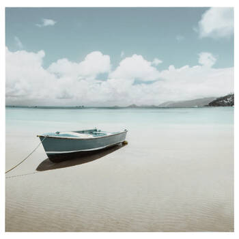 Boat on the Beach Printed Canvas